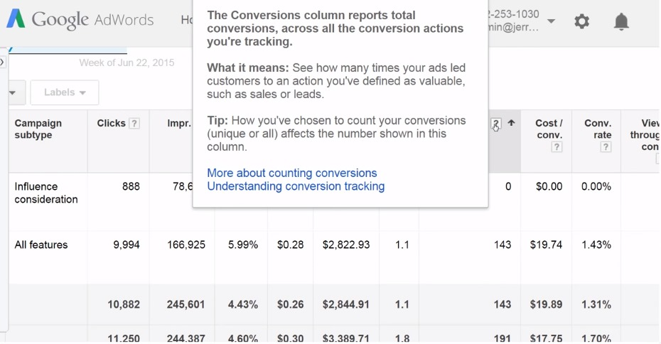 adwords setting campaign