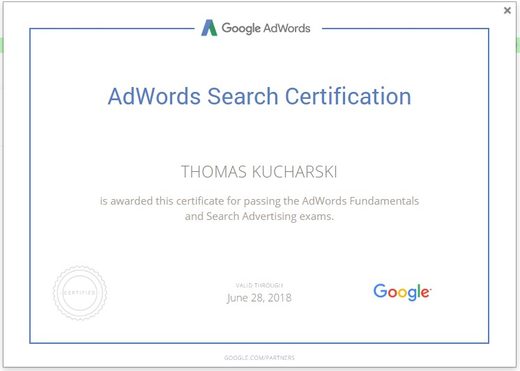 AdWords Certified The Mercen
