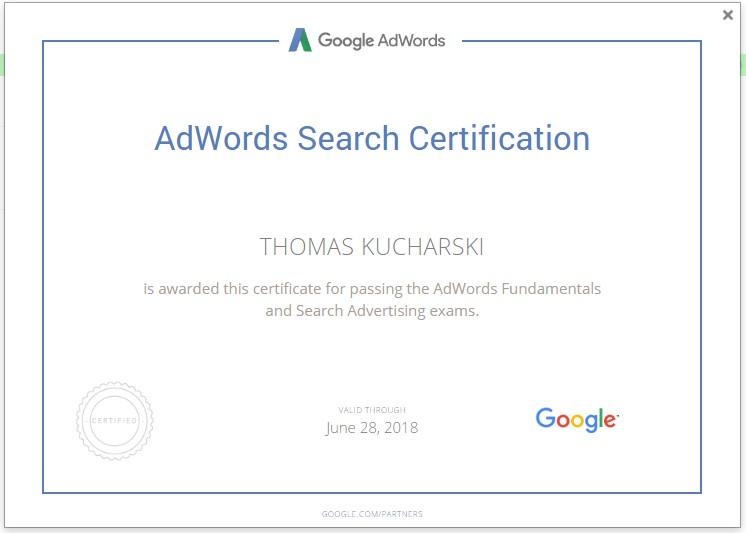 AdWords Certified The Mercen