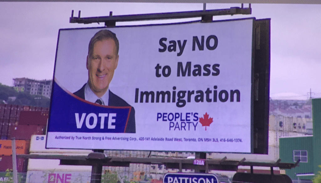 Ad company rejects calls to remove anti-immigration billboard featuring Maxime Bernier – Globalnews.ca